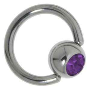 piercingsluiting Chirurgisch staal 316L Kristal