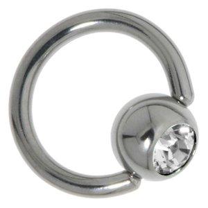 Cierre de piercing Acero quirúrgico Cristal