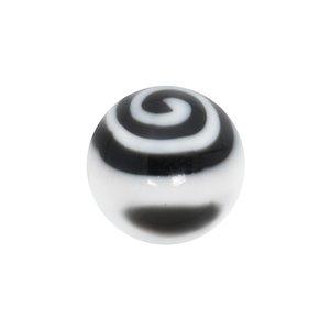 Embout de piercing Verre acrylique Spirale