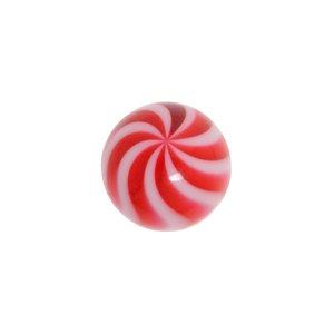 Piercingball Acrylic glass Wave Stripes Grooves Rills
