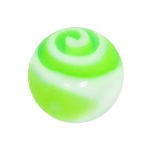 Cierre de piercing Cristal acrílico  Espiral