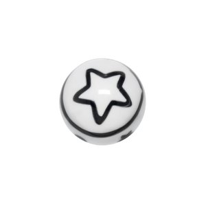 Embout de piercing Verre acrylique Étoile