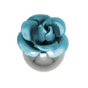 Embout de piercing Acier chirurgical 316L Fleur Rose