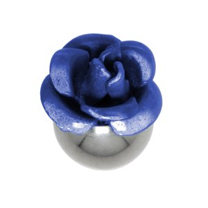 Piercingball Surgical Steel 316L Flower Rose