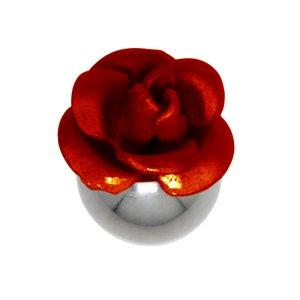 Chiusura piercing Metallo chirurgico 316L Fiore Rosa