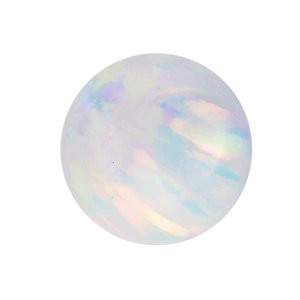 Chiusura piercing Synthetic opal