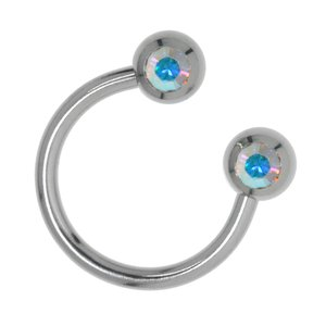 Barretta piercing Metallo chirurgico 316L Cristallo Swarovski