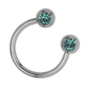 Barra de piercing Acero quirúrgico cristales de Swarovski