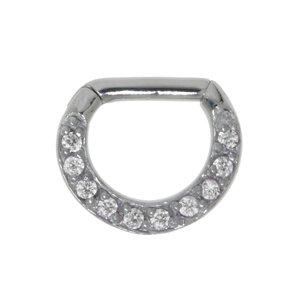 Septum piercing Surgical Steel 316L zirconia