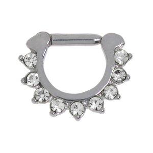 Septum piercing Surgical Steel 316L Crystal