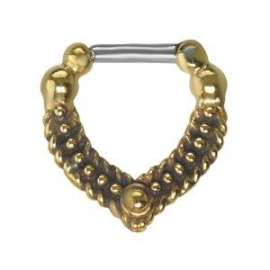 Septum piercing Surgical Steel 316L Brass Eternal Loop Eternity