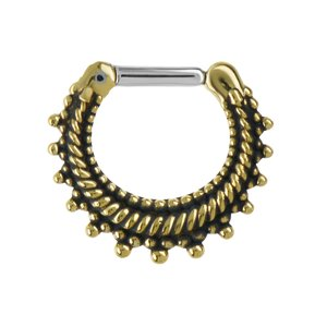 Septum piercing Surgical Steel 316L Brass Eternal Loop Eternity Spiral Stripes Grooves Rills Tribal_pattern