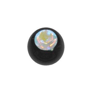 Piercing Cristallo Swarovski Metallo chirurgico 316L Rivestimento PVD (nero)