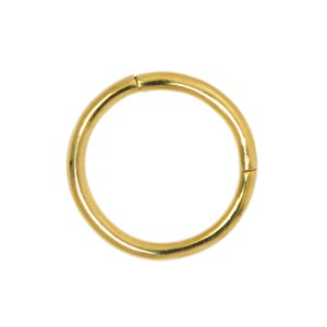 Septum piercing Surgical Steel 316L PVD-coating (gold color)