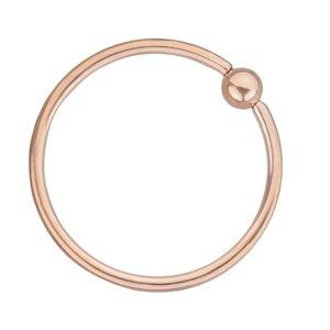 1.2mm Piercingstab Chirurgenstahl 316L PVD Beschichtung (goldfarbig)