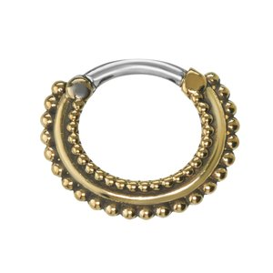 Septum piercing Surgical Steel 316L Brass