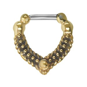 Septum piercing Surgical Steel 316L Brass Eternal Loop Eternity