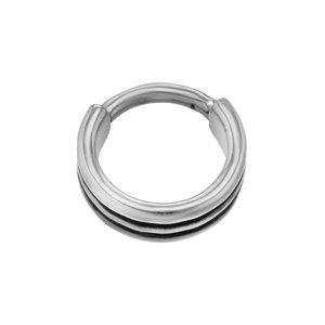 Septum piercing Surgical Steel 316L Black PVD-coating Stripes Grooves Rills