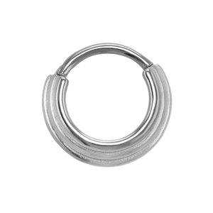 Septum piercing Surgical Steel 316L Stripes Grooves Rills