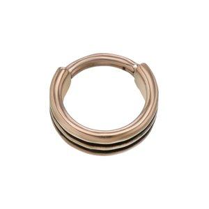 Neuspiercing Chirurgisch staal 316L PVD laag (goudkleurig) PVD laag (zwart) streep lijn ribbels