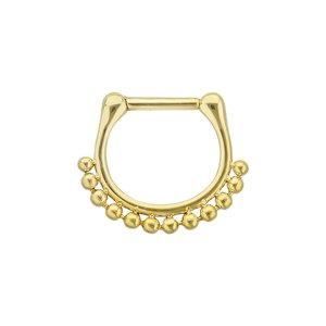 Septum piercing Surgical Steel 316L PVD-coating (gold color)