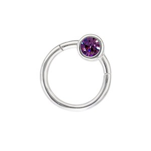 Pin Surgical Steel 316L Swarovski crystal
