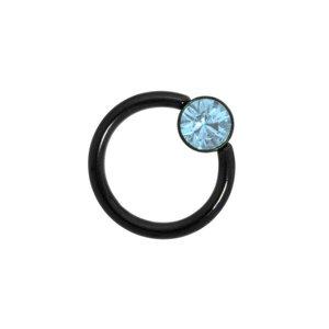 Tige piercing Acier chirurgical 316L Revêtement PVD noir