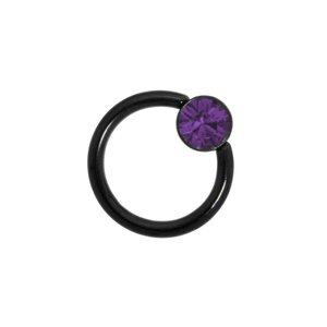 Barretta piercing Metallo chirurgico 316L Rivestimento PVD (nero)