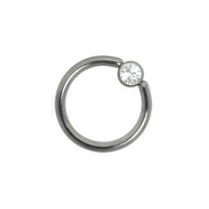 piercingstaafje Chirurgisch staal 316L Swarovski kristal
