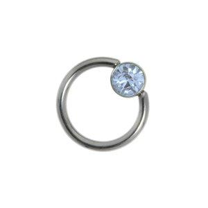 Pin Surgical Steel 316L Swarovski crystal