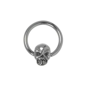 Pin Surgical Steel 316L Skull Skeleton