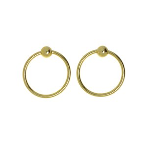 Nail piercing Silver 925 Gold-plated