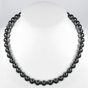Stone necklace Stainless Steel Hematite