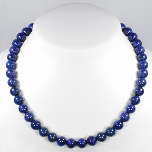 Stone necklace Stainless Steel Lapis Lazuli