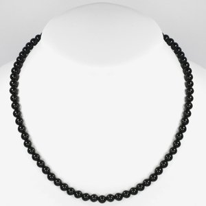 Stone necklace Stainless Steel Onyx