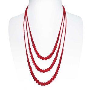 Collana di perle Cristallo Rame con rivestimento in argento