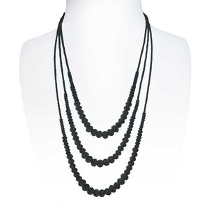 Collar de perlas Cristal Cobre con revestimiento de plata