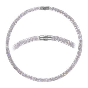 Pearl necklace Stainless Steel Crystal