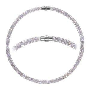 Collana di perle Acciaio inox Cristallo