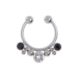 Nose clip Surgical Steel 316L Crystal