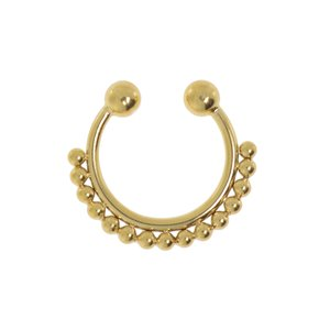 Nose clip Surgical Steel 316L PVD-coating (gold color)