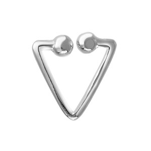 Nose clip Silver 925 Triangle