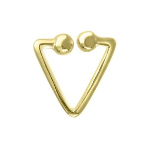 Nose clip Silver 925 Gold-plated Triangle