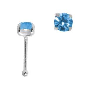 Nasenpiercing Silber 925 Kristall
