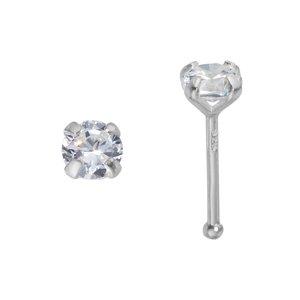 Nose piercing Silver 925 zirconia