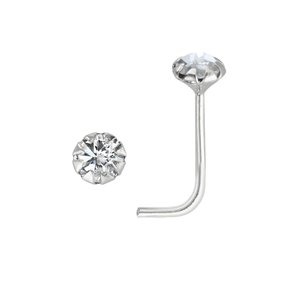 Piercing de nariz Plata 925 Cristal