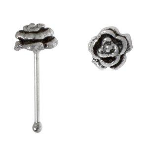 Nose piercing Silver 925 Rose Flower