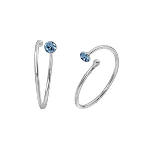 Nose ring Silver 925 Crystal