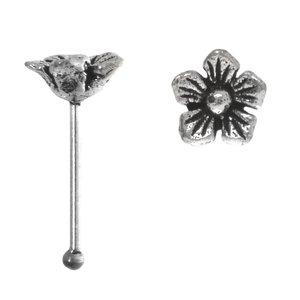 Nose piercing Silver 925 Flower