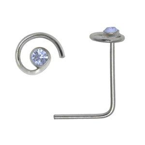 Piercing per naso Argento 925 Cristallo Spirale